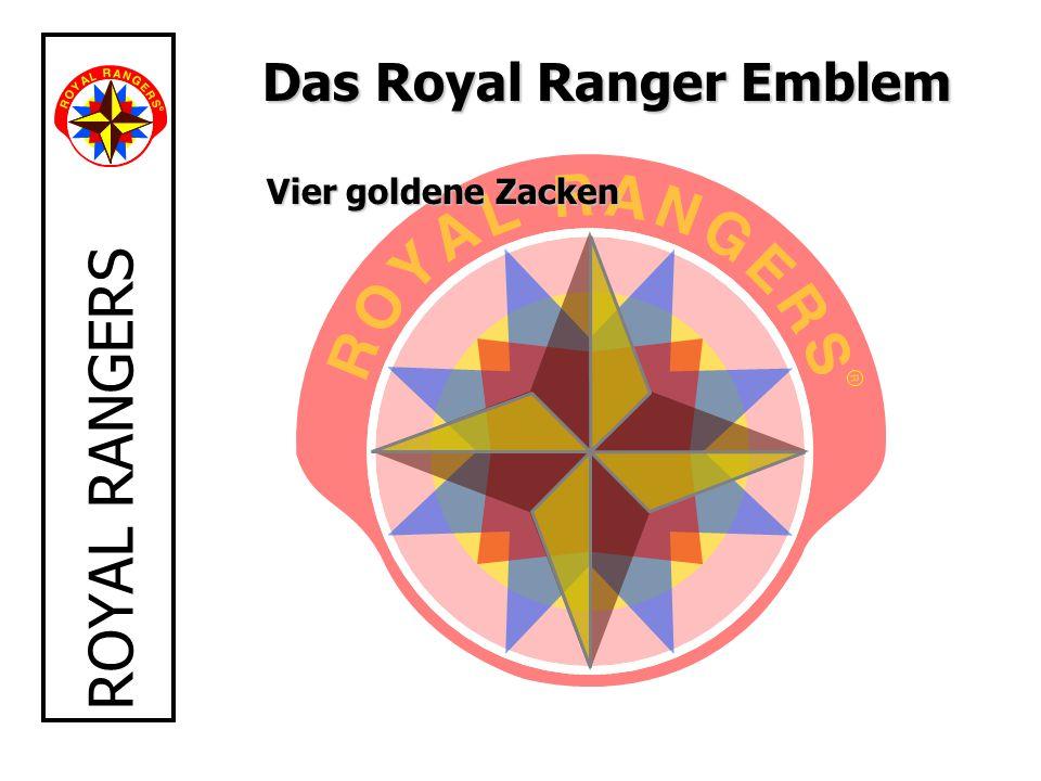 Das Royal Ranger Emblem Vier goldene Zacken
