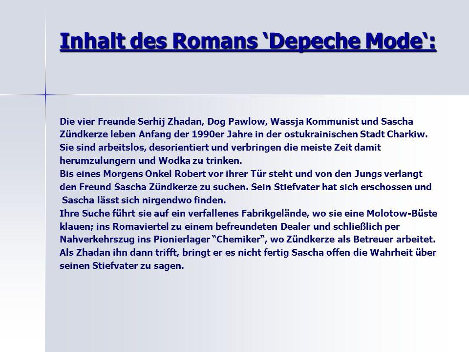 Inhalt des Romans 'Depeche Mode':