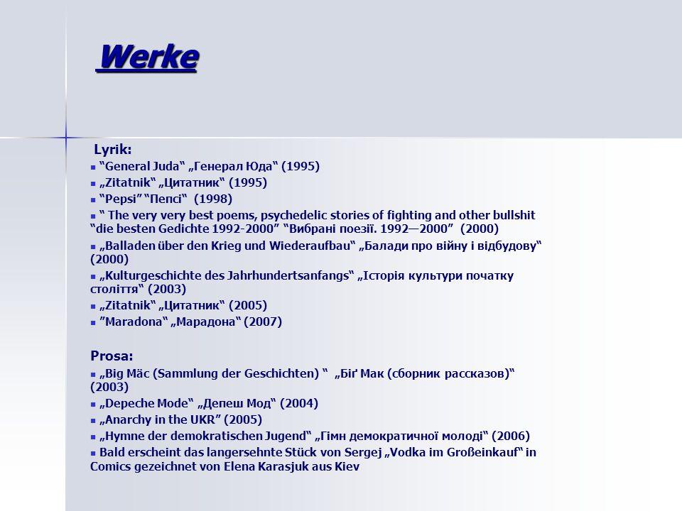 "Werke Lyrik: Prosa: General Juda ""Генерал Юда (1995)"
