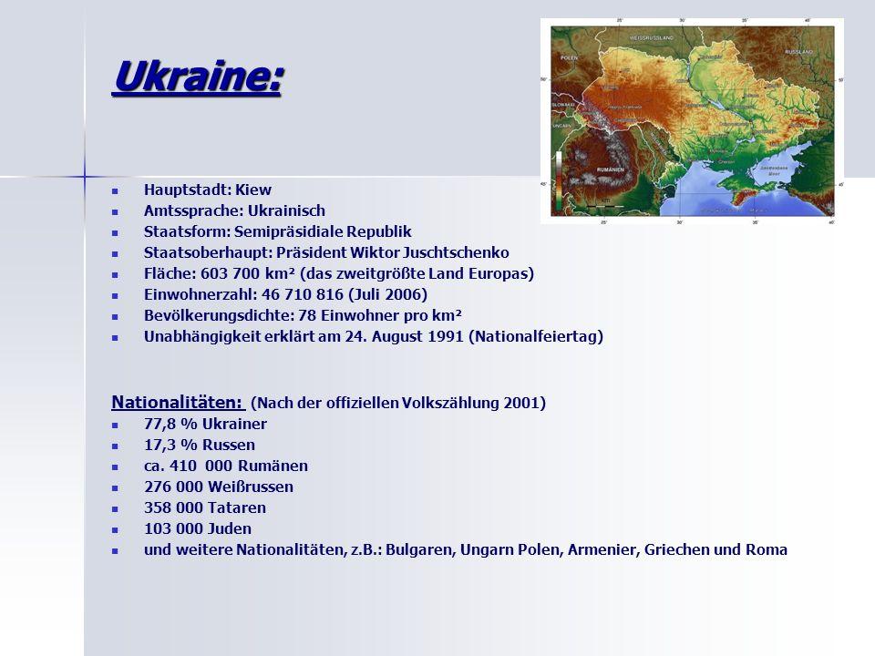 Ukraine: Nationalitäten: (Nach der offiziellen Volkszählung 2001)