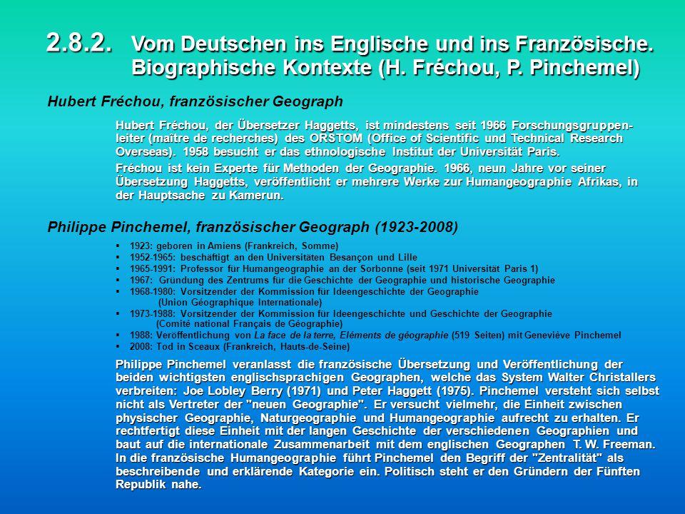 2. 8. 2. Vom Deutschen ins Englische und ins Französische