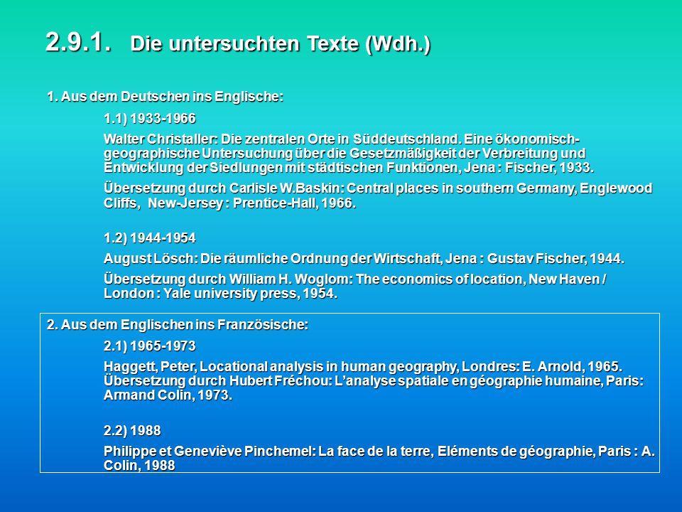 2.9.1. Die untersuchten Texte (Wdh.)