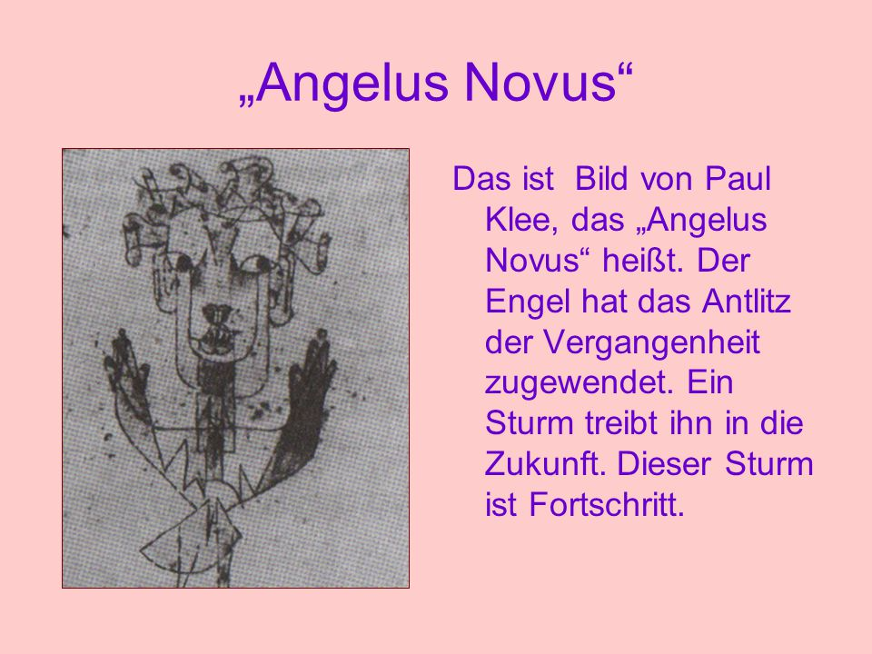 """Angelus Novus"