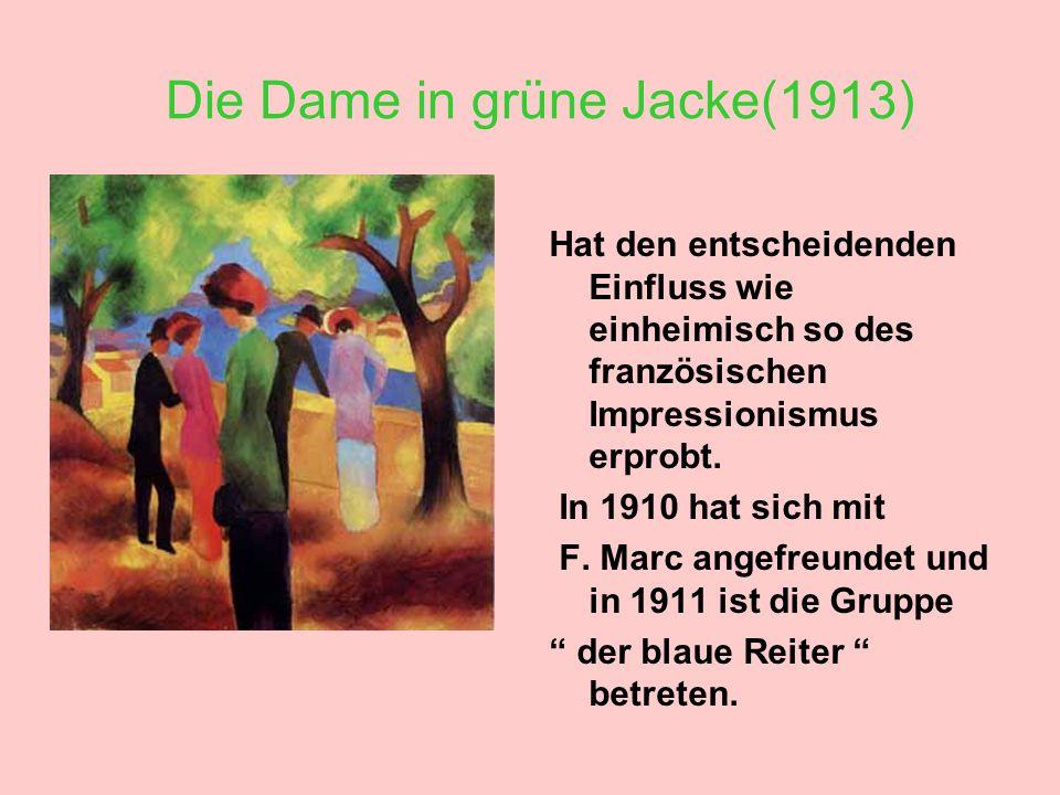 Die Dame in grüne Jacke(1913)