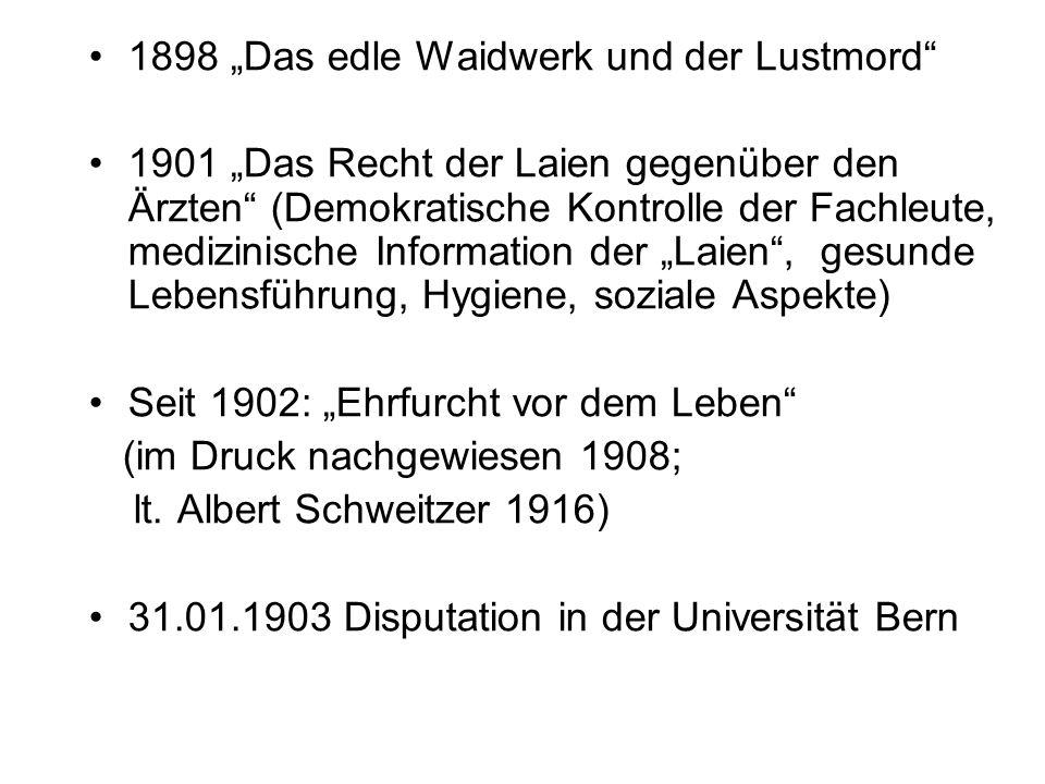 """1898 """"Das edle Waidwerk und der Lustmord"""