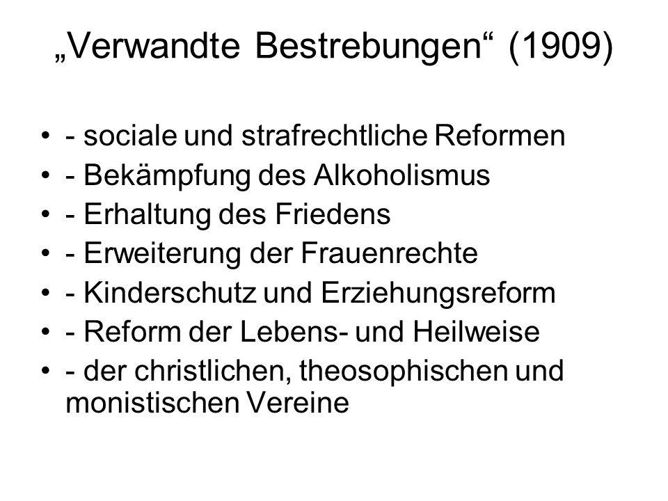 """Verwandte Bestrebungen (1909)"