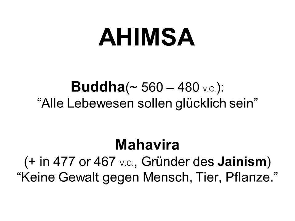 Buddha(~ 560 – 480 v.C.): Alle Lebewesen sollen glücklich sein