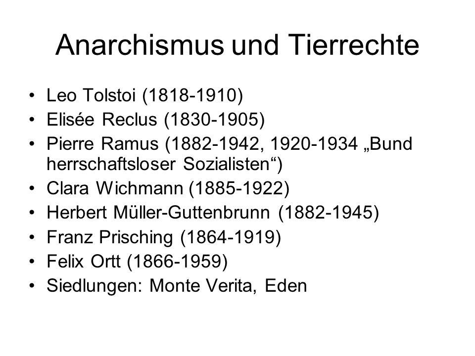 Anarchismus und Tierrechte