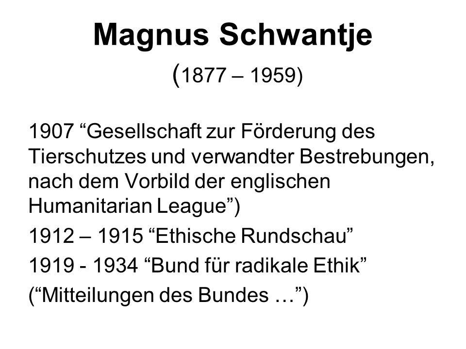 Magnus Schwantje (1877 – 1959)