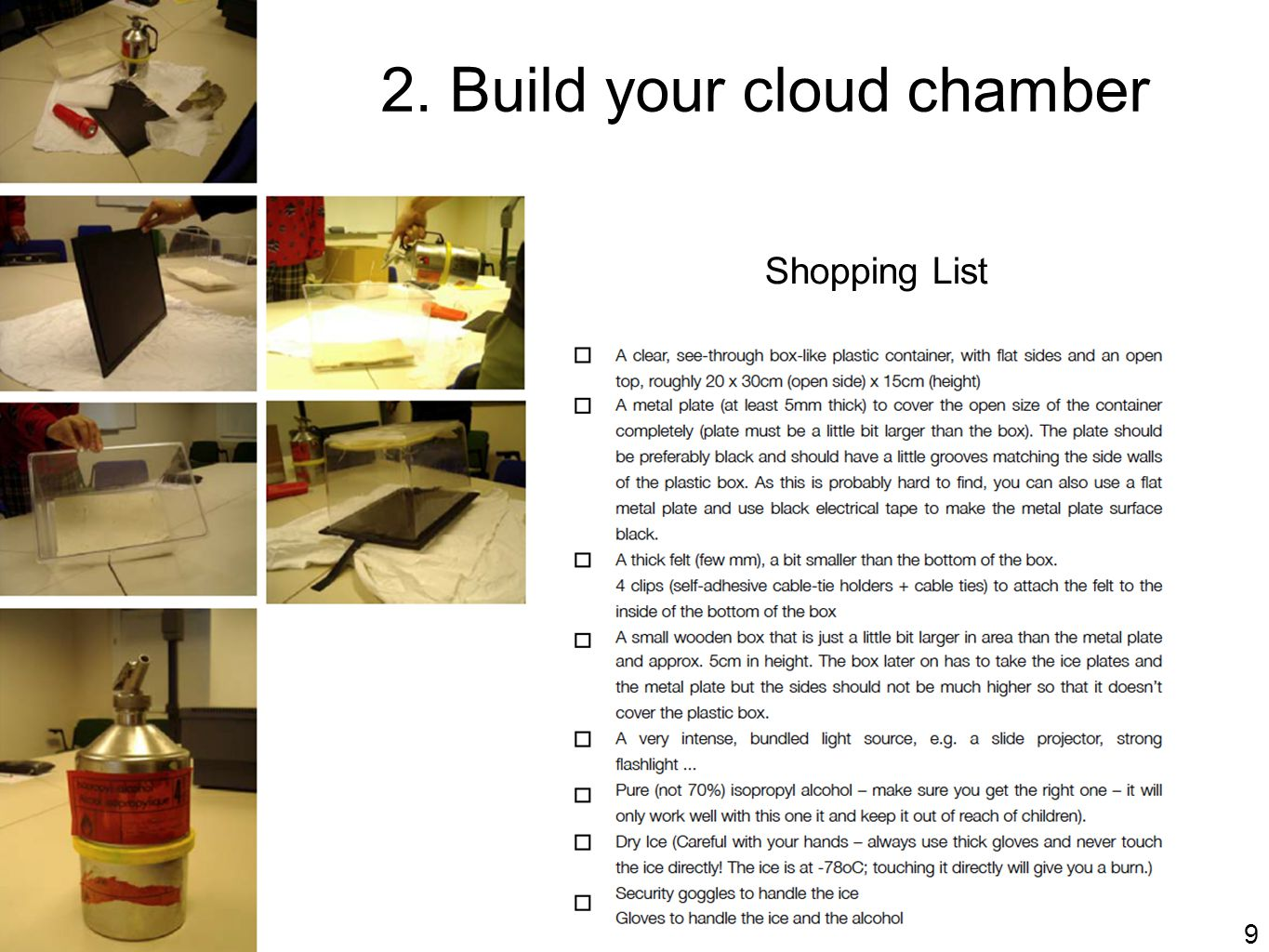 2. Build your cloud chamber