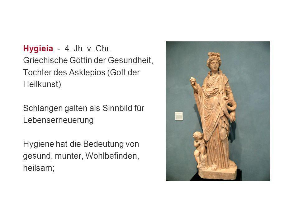 Hygieia - 4. Jh. v. Chr. Griechische Göttin der Gesundheit, Tochter des Asklepios (Gott der. Heilkunst)