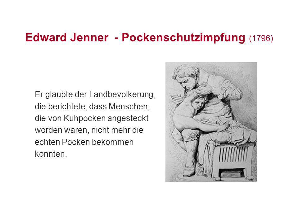 Edward Jenner - Pockenschutzimpfung (1796)