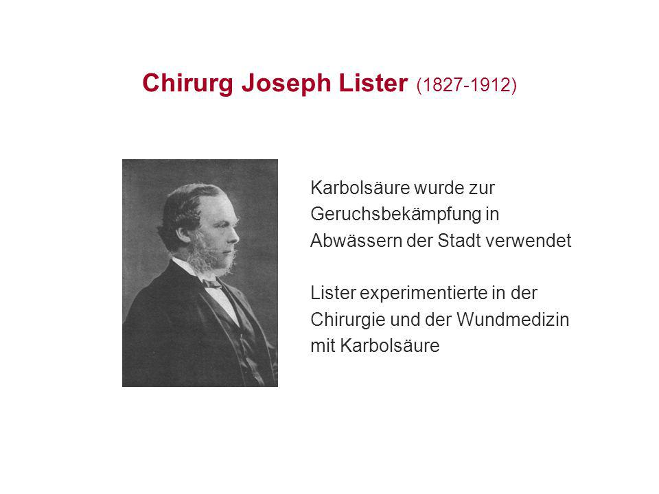 Chirurg Joseph Lister (1827-1912)