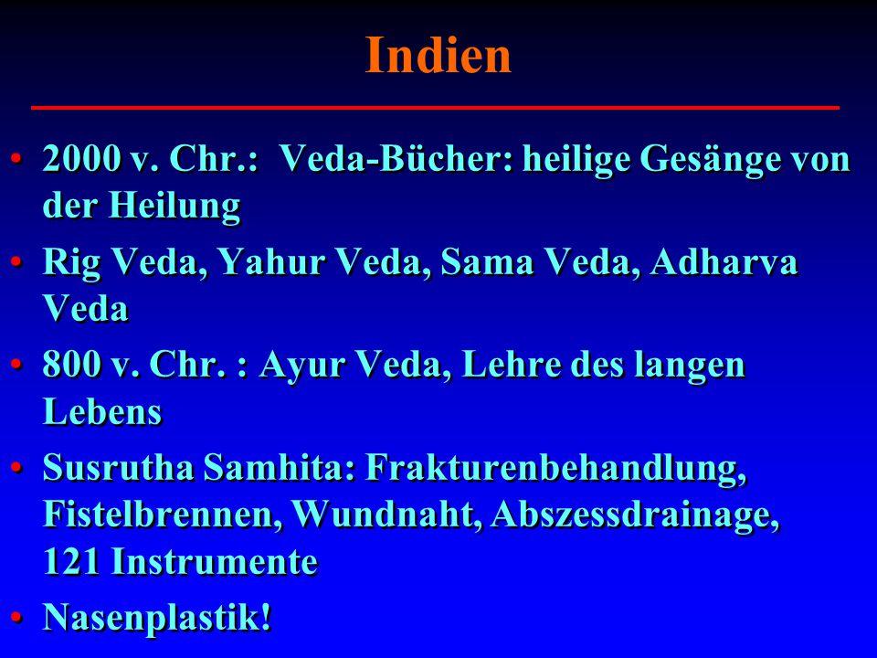 Indien 2000 v. Chr.: Veda-Bücher: heilige Gesänge von der Heilung