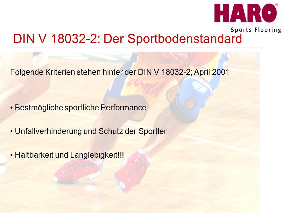 DIN V 18032-2: Der Sportbodenstandard