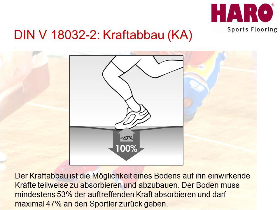 DIN V 18032-2: Kraftabbau (KA)