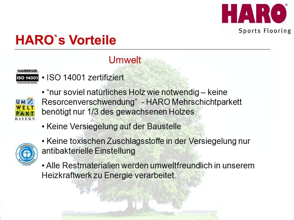 HARO`s Vorteile Umwelt ISO 14001 zertifiziert