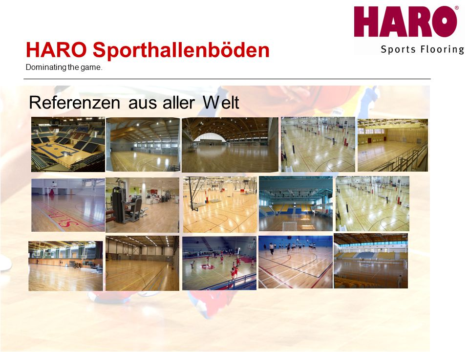 HARO Sporthallenböden Dominating the game.