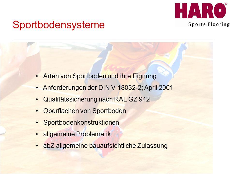Sportbodensysteme Arten von Sportböden und ihre Eignung