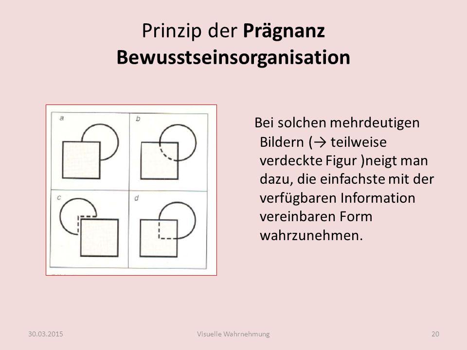 Prinzip der Prägnanz Bewusstseinsorganisation