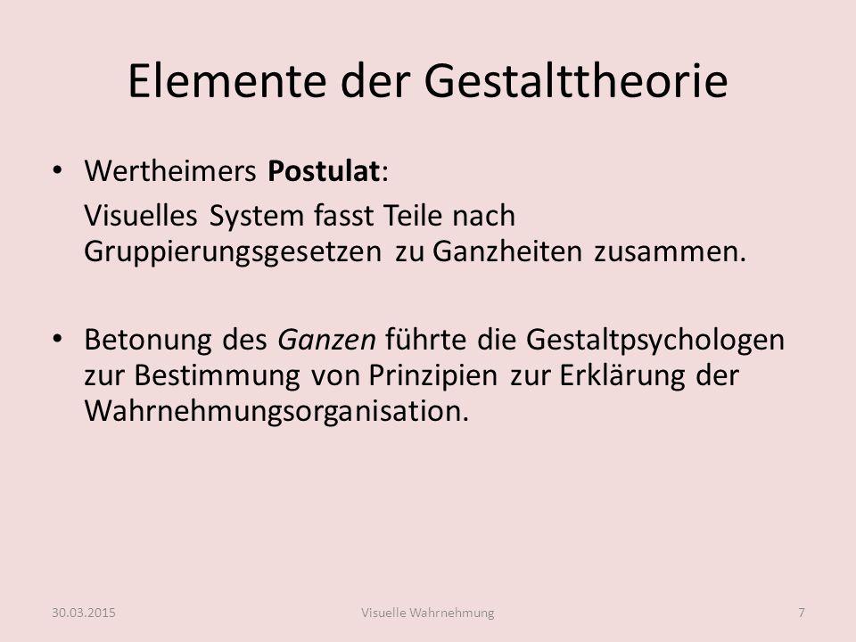 Elemente der Gestalttheorie