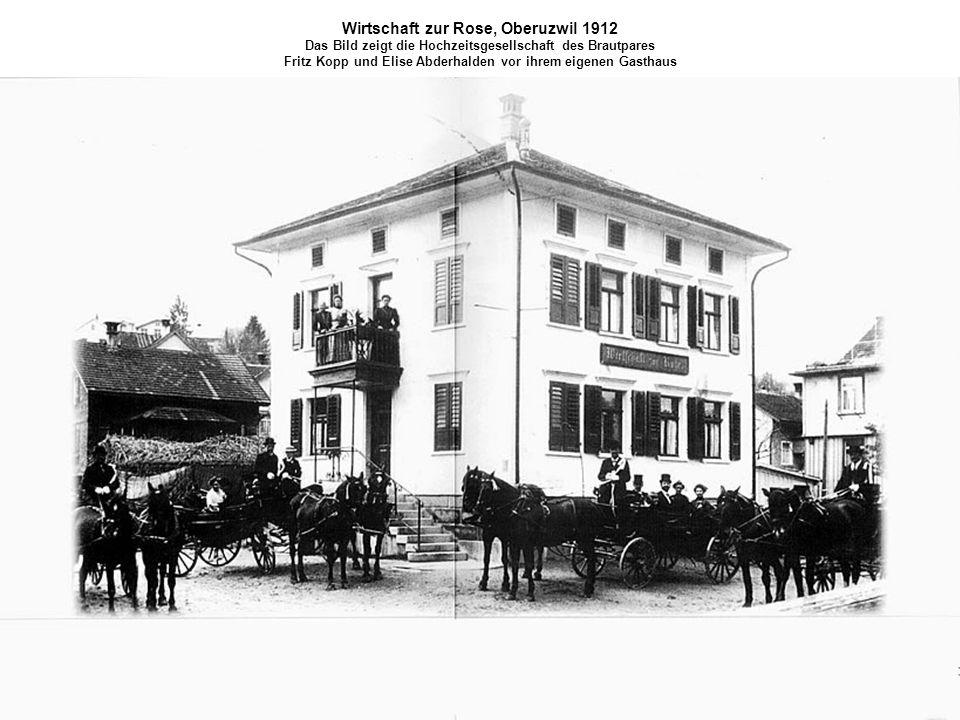 Wirtschaft zur Rose, Oberuzwil 1912