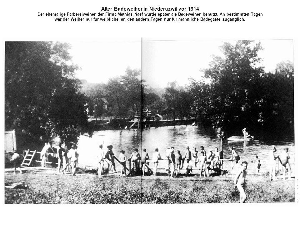 Alter Badeweiher in Niederuzwil vor 1914