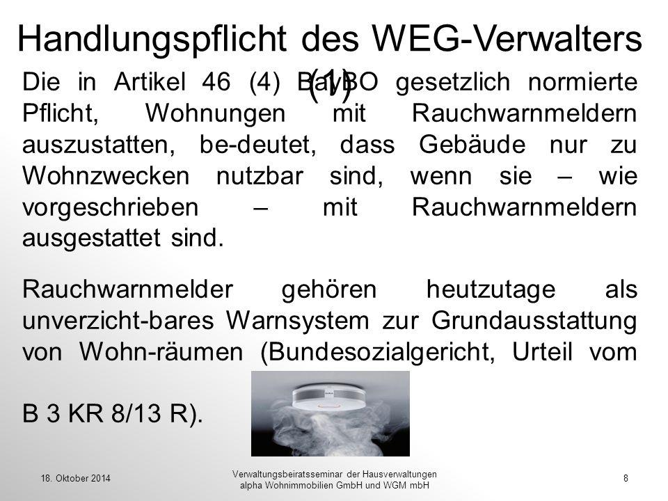 Handlungspflicht des WEG-Verwalters (1)