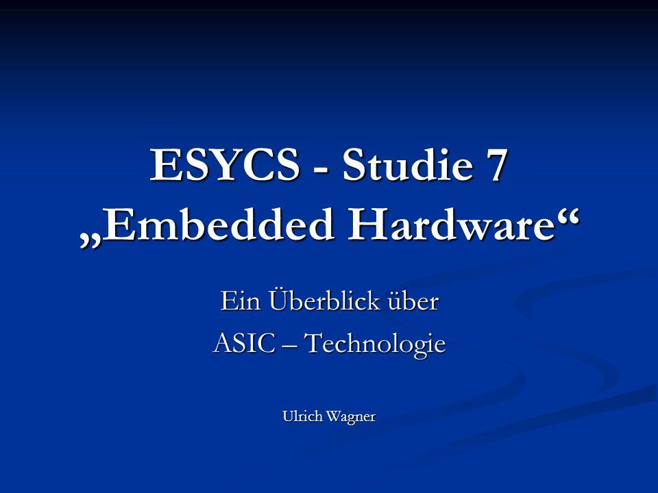 "ESYCS - Studie 7 ""Embedded Hardware"