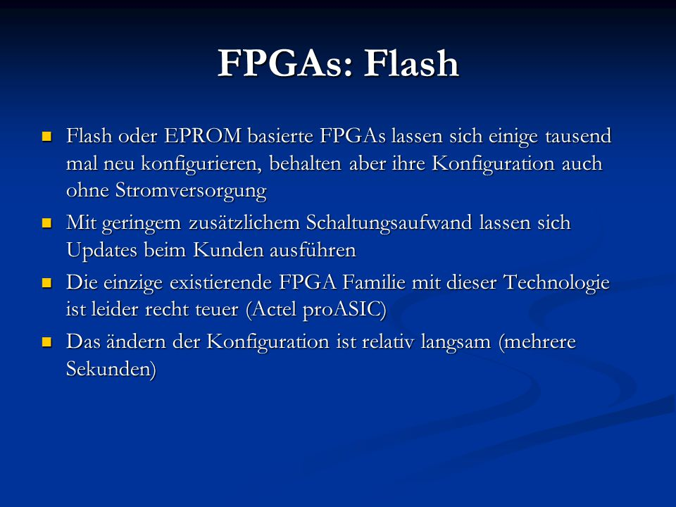 FPGAs: Flash