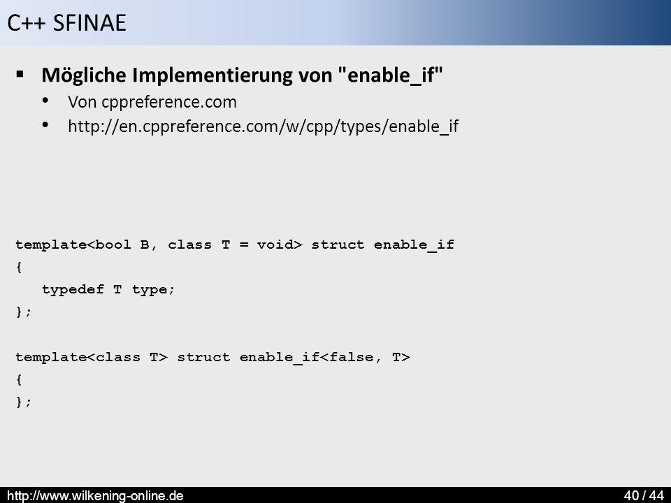 Mögliche Implementierung von enable_if