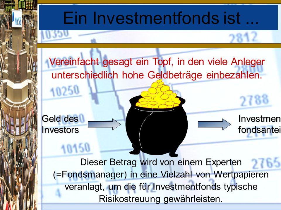 Ein Investmentfonds ist ...