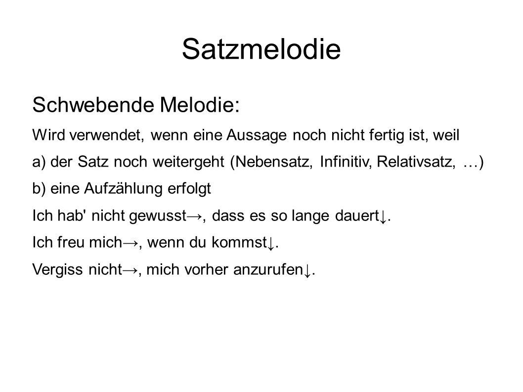 Satzmelodie Schwebende Melodie:
