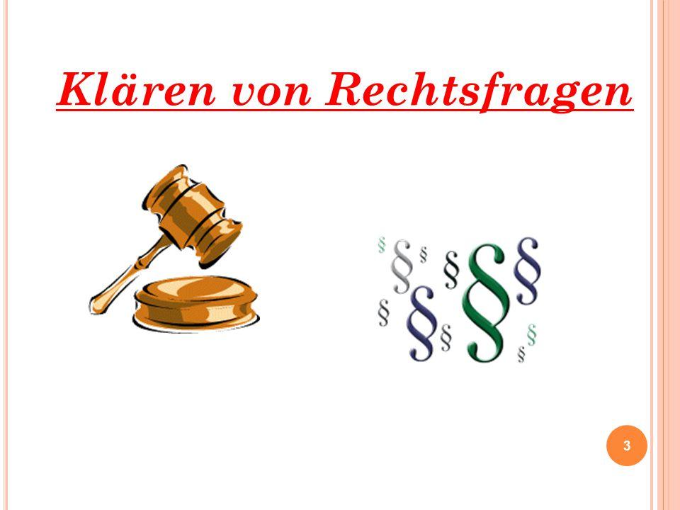 Klären von Rechtsfragen