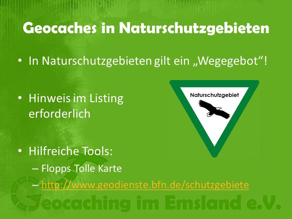 Geocaches in Naturschutzgebieten