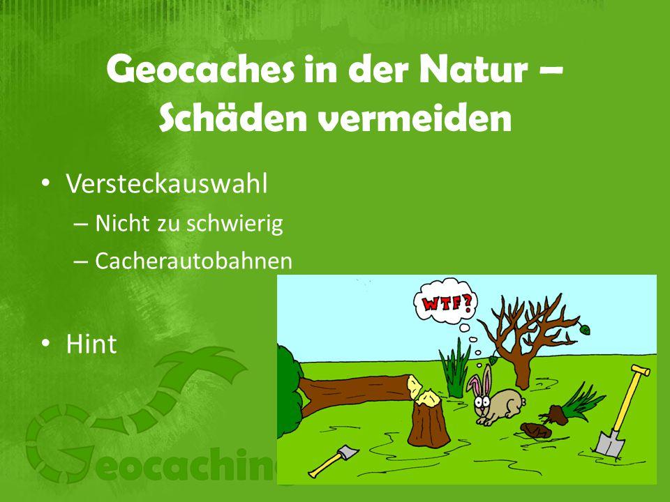 Geocaches in der Natur – Schäden vermeiden