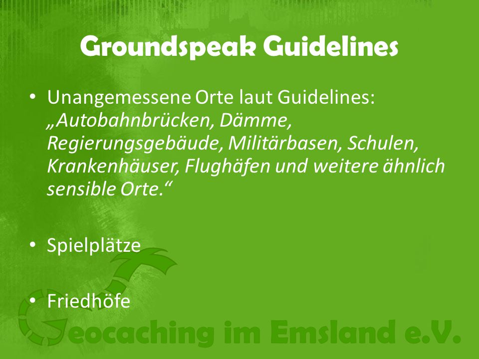 Groundspeak Guidelines