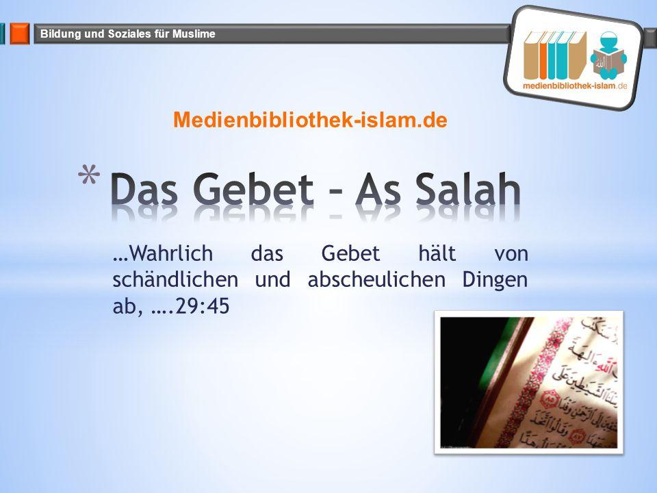 Das Gebet – As Salah Medienbibliothek-islam.de