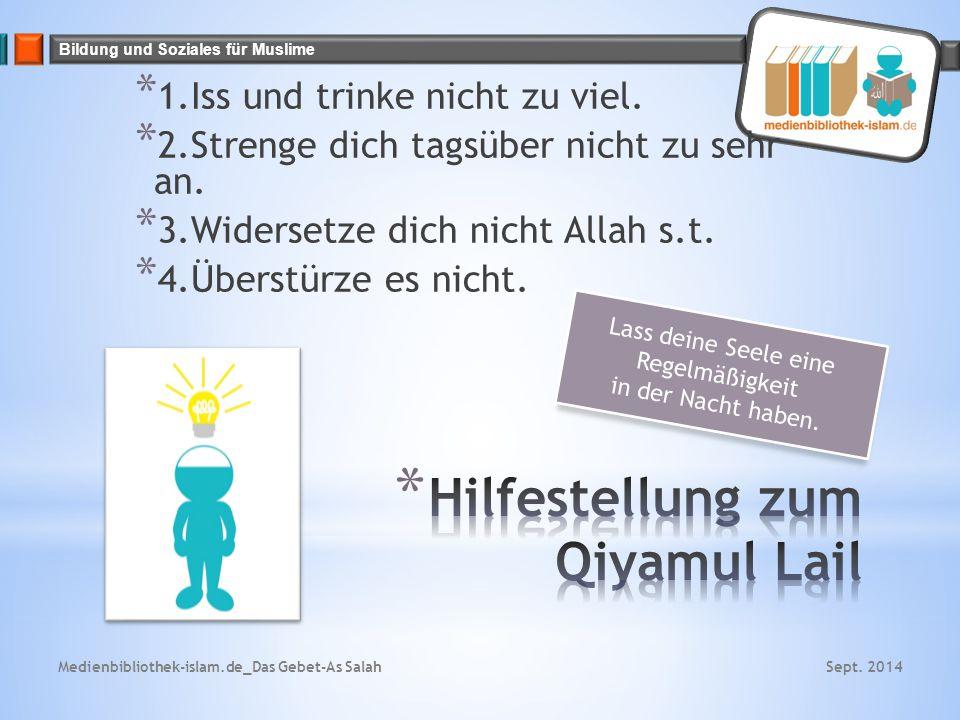 Hilfestellung zum Qiyamul Lail