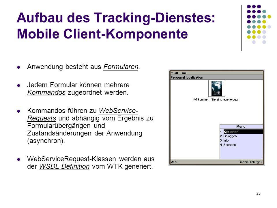 Aufbau des Tracking-Dienstes: Mobile Client-Komponente