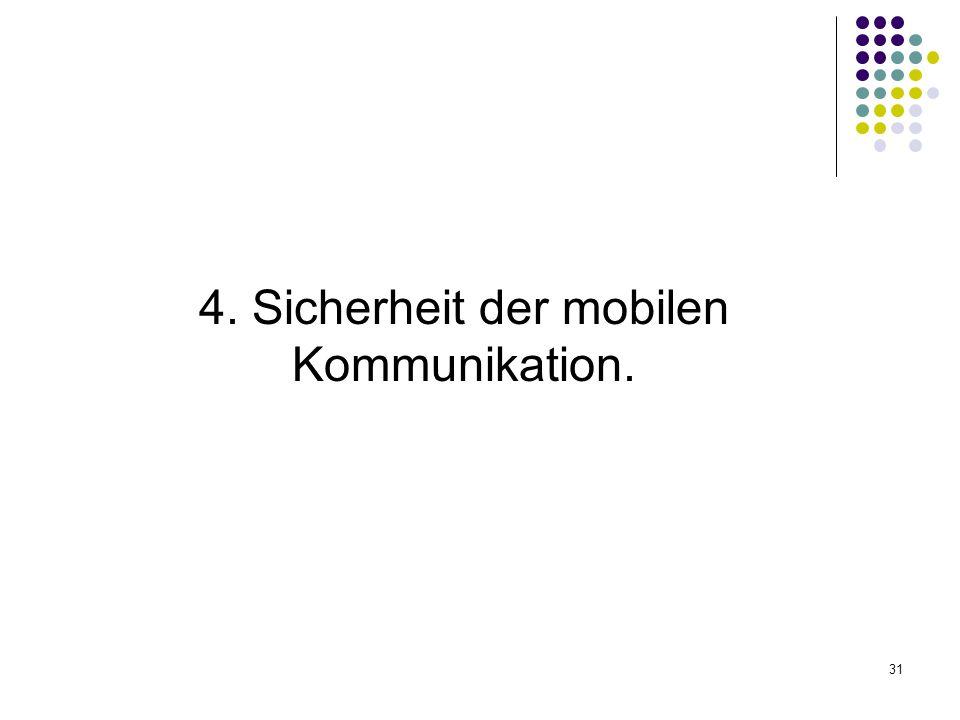 4. Sicherheit der mobilen Kommunikation.
