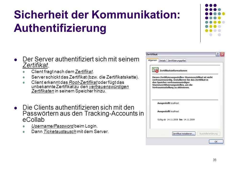 Sicherheit der Kommunikation: Authentifizierung