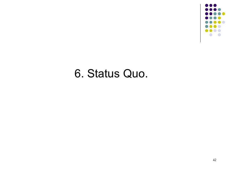 6. Status Quo.