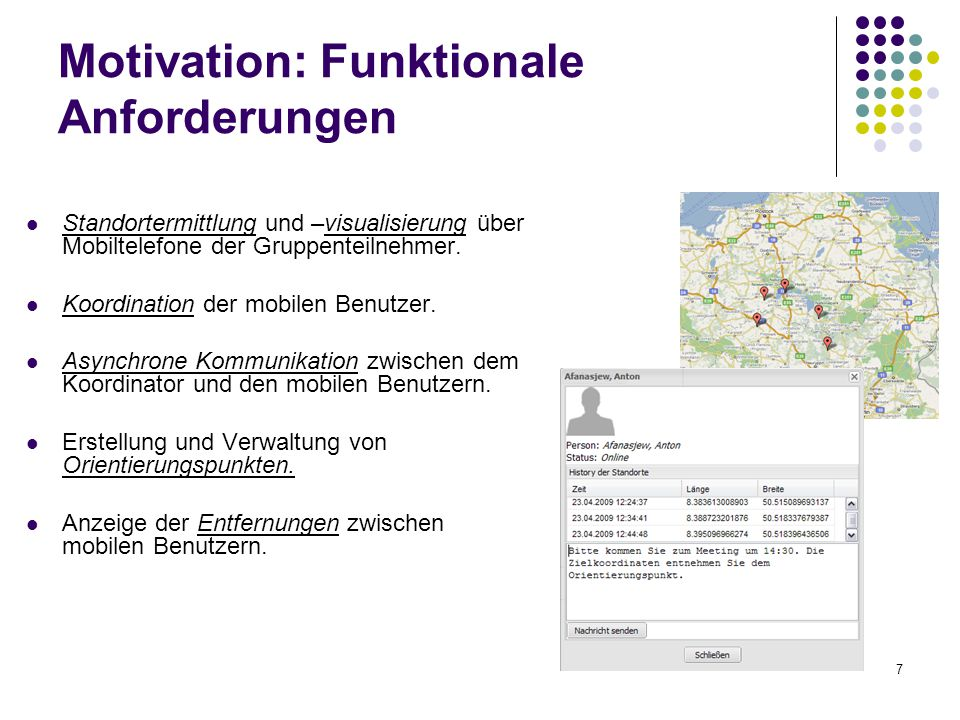 Motivation: Funktionale Anforderungen