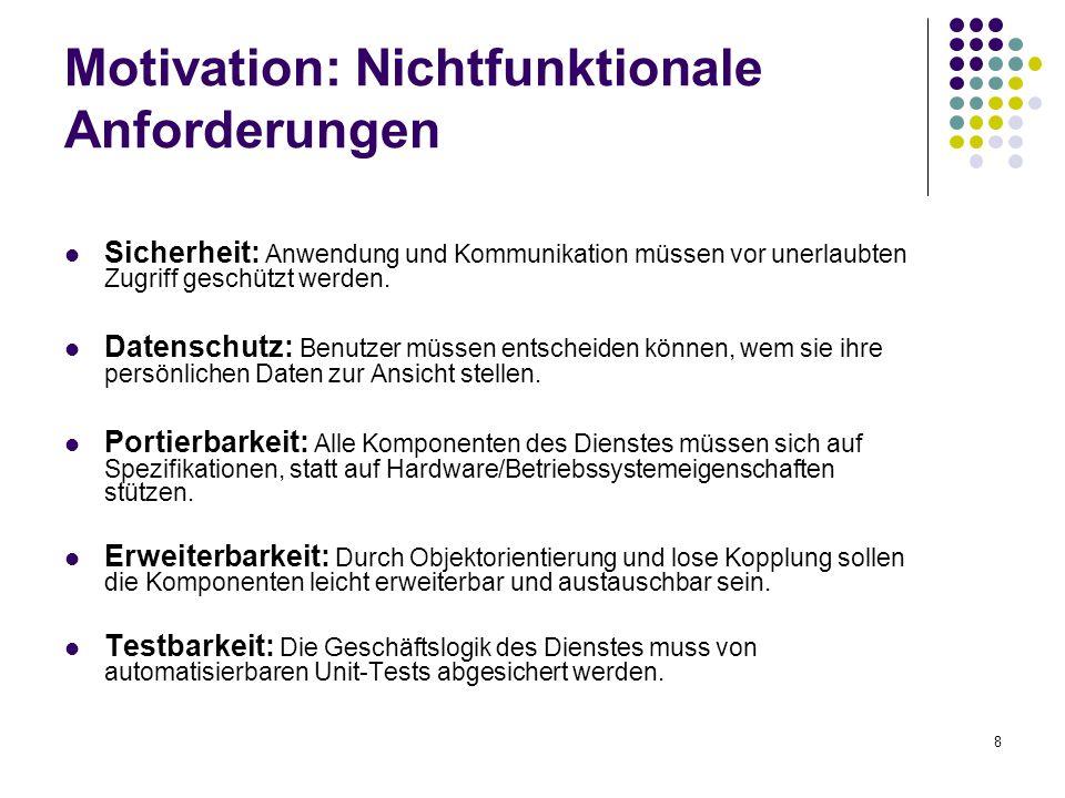Motivation: Nichtfunktionale Anforderungen