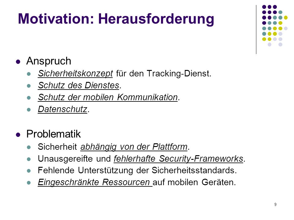 Motivation: Herausforderung