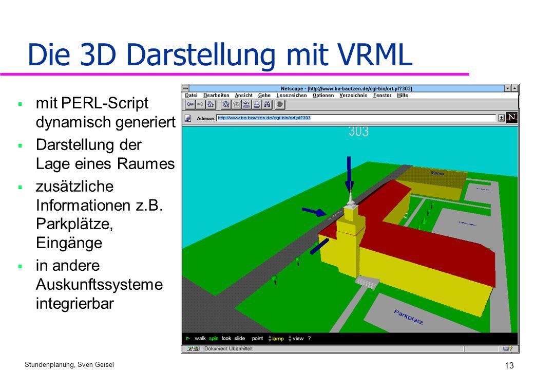 Die 3D Darstellung mit VRML