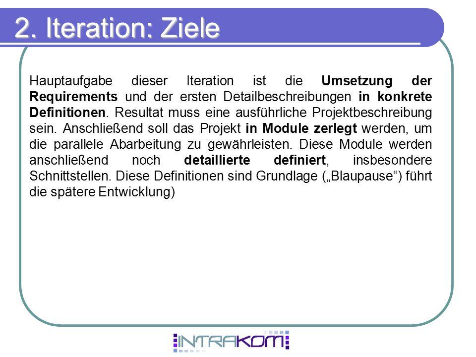 2. Iteration: Ziele