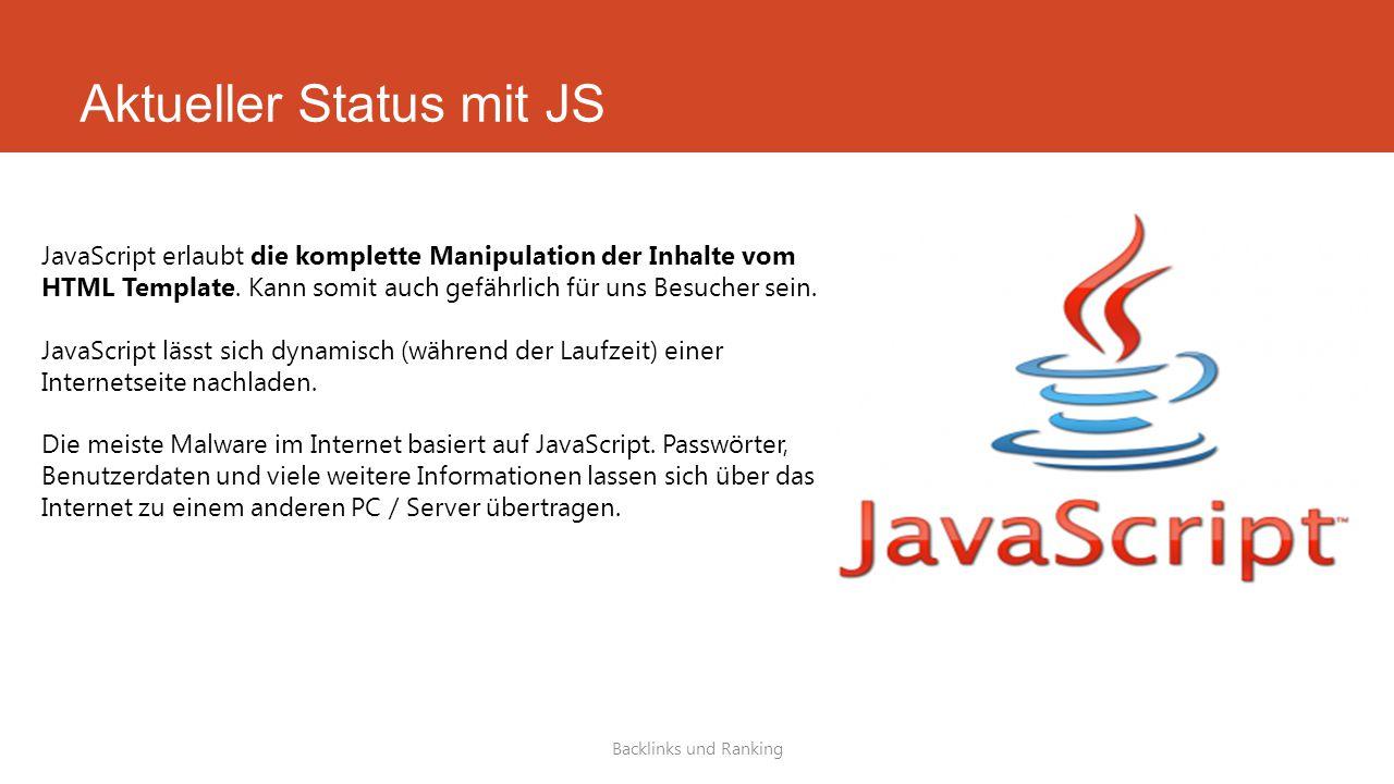 Aktueller Status mit JS