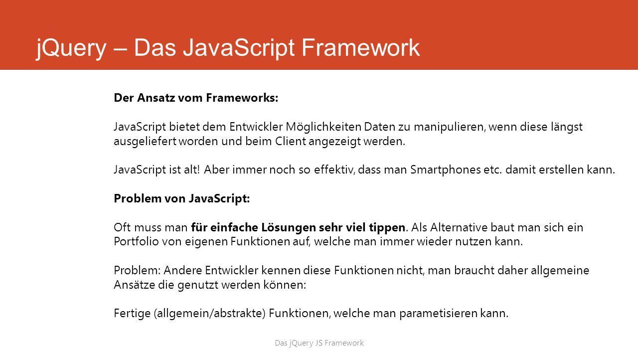 jQuery – Das JavaScript Framework